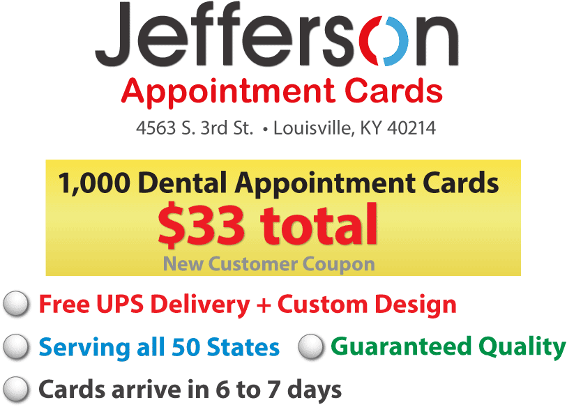 dental appointment reminder cards - Dental Appointment Cards